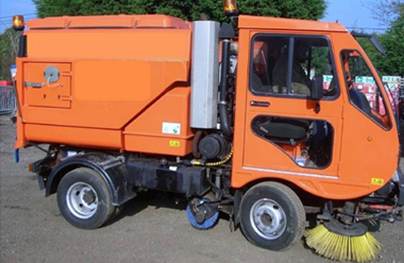cleaning truck