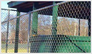 Grey Galvanized Chain Link Fence