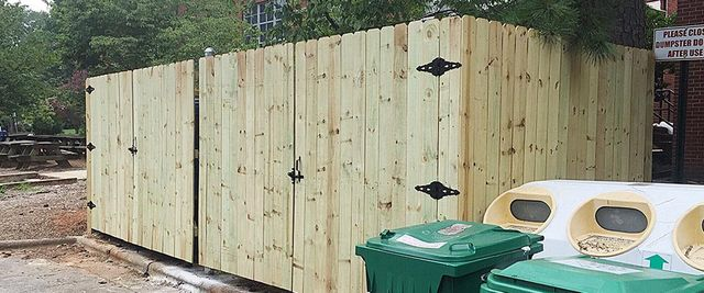 Pictures of wooden fences Gate Commercial Custom Wooden Fence Wood Fence Installation Company Raleigh Nc Freedom Fence Builders