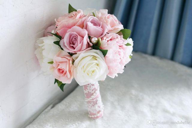 A woman holding a bouquet