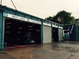 A view of our MOT station in Edinburgh