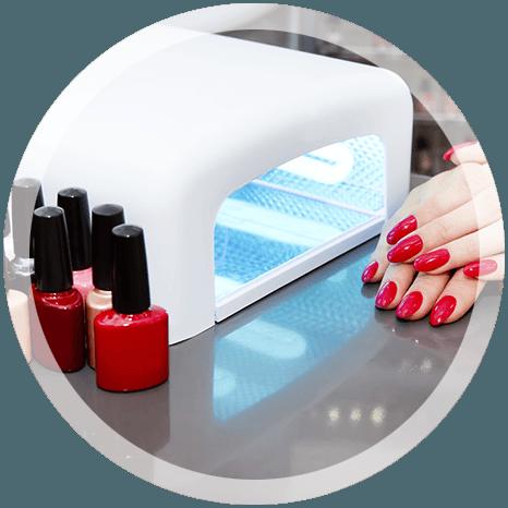 gel polish nails and uv light