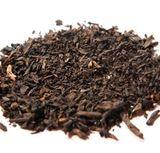 Dark tea leaves