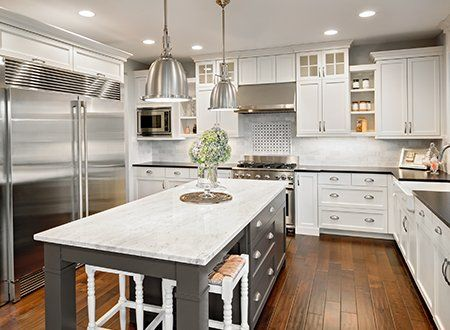 Home Repair U2014 Beautiful Kitchen In Luxury Home With Island And Stainless  Steel In Asheville,