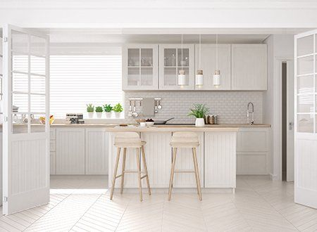 Kitchen Countertops U2014 Classic Kitchen With Wooden And White Details In  Asheville, NC