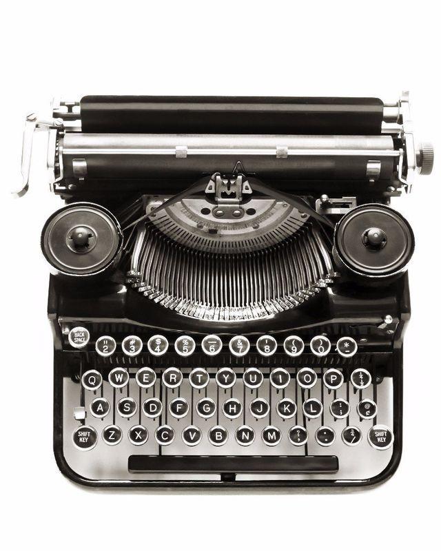 Schreibmaschine, klare kommunikation, onlinekommunikation