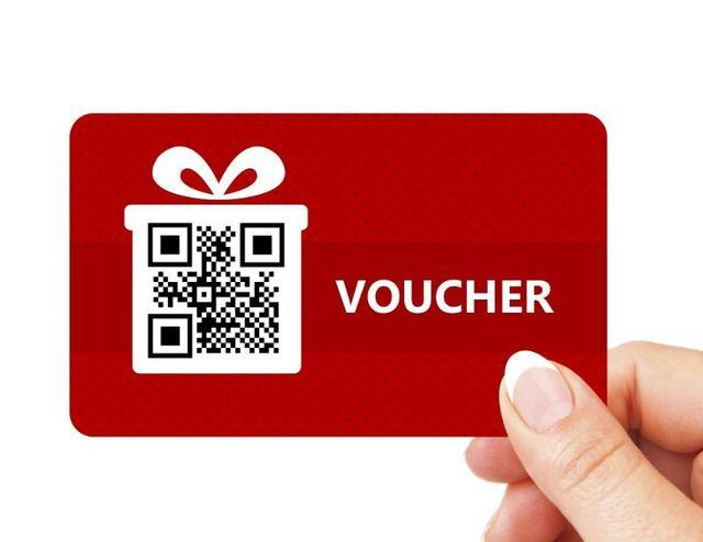 un voucher con QR code
