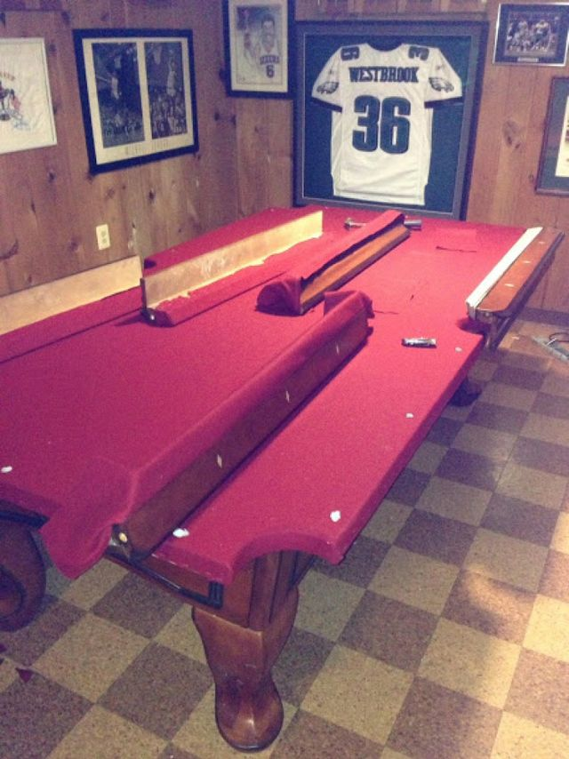 Pool Table Disassembly And Reassembly Experienced Professionals - Brunswick pool table disassembly