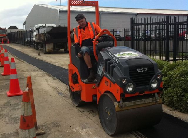 carrying out asphalt repair in Waikato