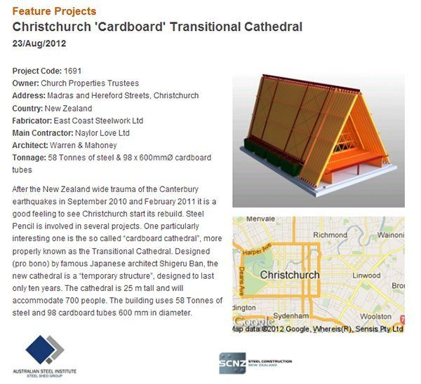 Details about the Christchurch project