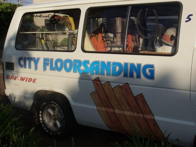 The City Floorsanding van