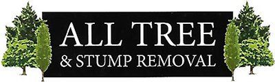 all tree and stump removal business logo