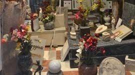 vista della cerimonia funebre