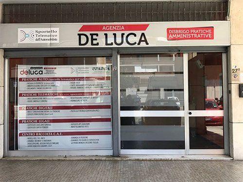 vista frontale agenzia DE LUCA