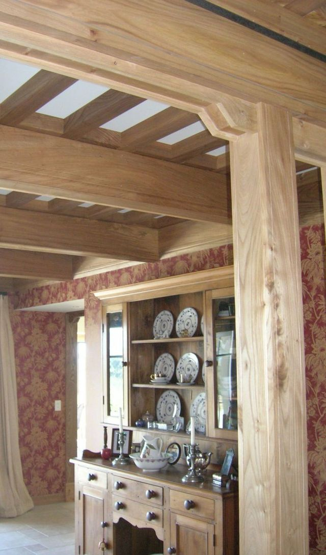 Beams in a home from a timber merchant in Nelson