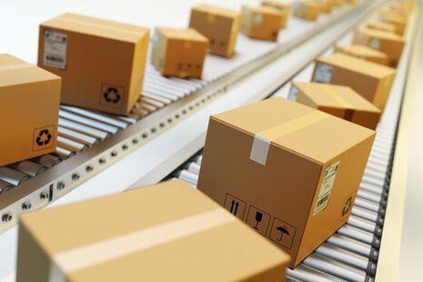 consegna di merce via sistema postale