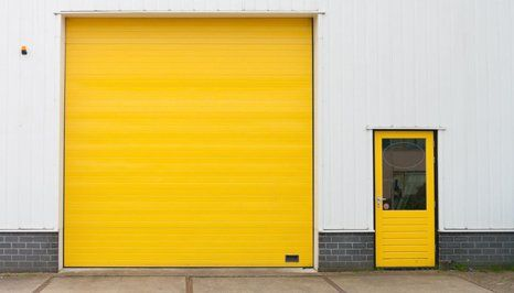yellow coloured shutter