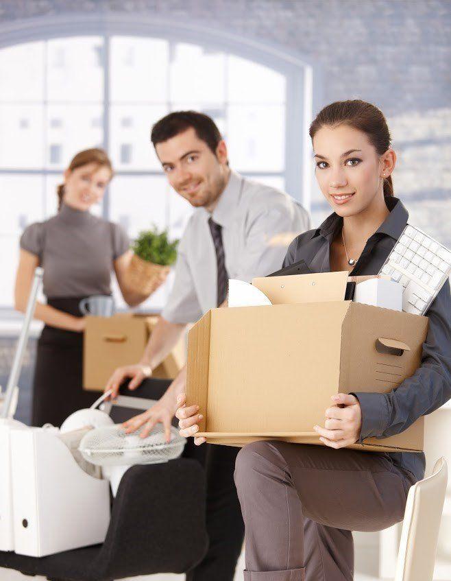 Woman Holding Boxes – Lorton, VA – Fairfax Transfer and Storage Inc.