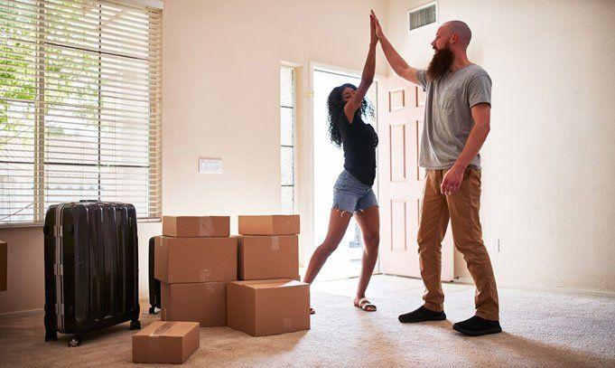 Recently Moved Couple — Fairfax, VA — Fairfax Transfer and Storage Inc.
