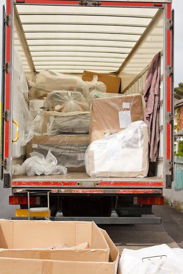 Boxes Inside the Truck — Lorton, VA — Fairfax Transfer and Storage Inc.