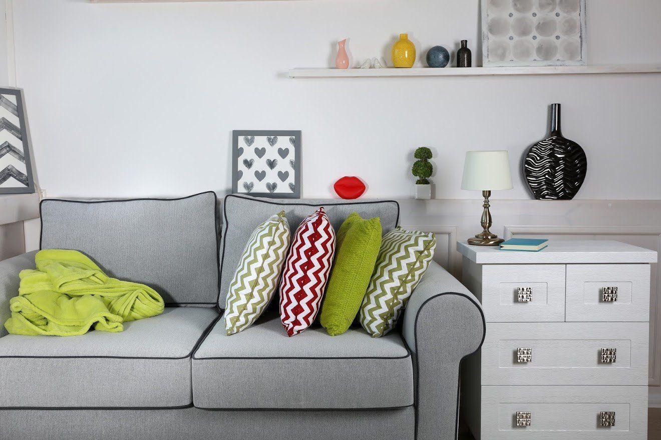 Modern Gray Couch — Lorton, VA — Fairfax Transfer and Storage Inc.