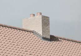 chimney installed on roof top