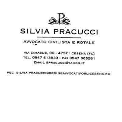 un biglietto da visita con scritto Silvia pracucci avvocato civilista e rotale