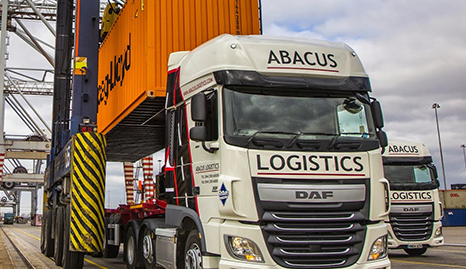 Abacus Logistics van on site