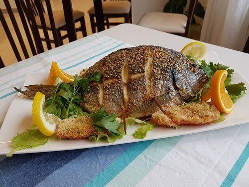 pesce alla griglia, nostra specialita' a Crema
