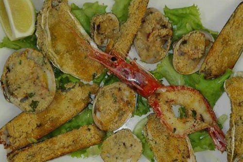 Misto di Pesce e verdure gratinate a Crema