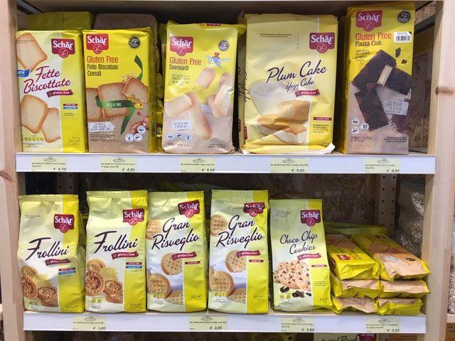 Prodotti senza glutine in varietà e quantità