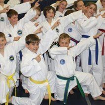 kids enjoying Taekwon-do