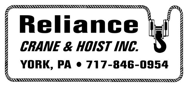 Crane & Hoist Parts | York, PA | Reliance Crane & Hoist