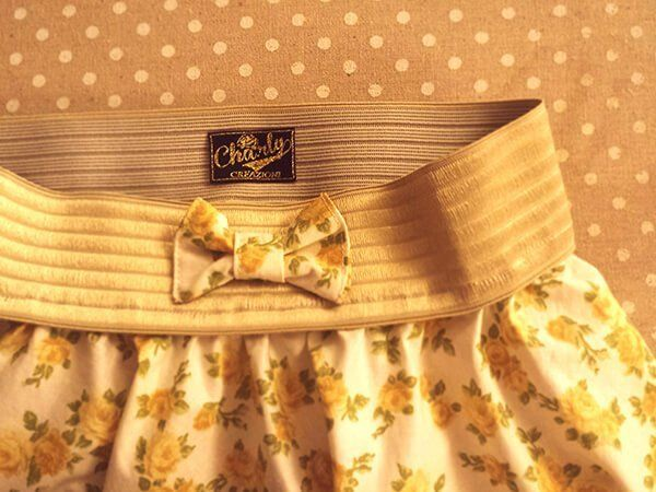 borsa floreale vintage con etichetta cha.rly vintage