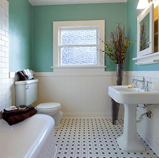 designer bathroom flooring