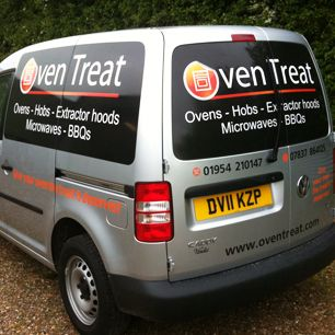 Vehicle graphics on a car