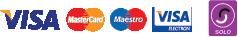 Debit and credit card logos