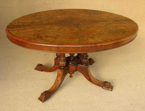 Antique furniture - round centre table