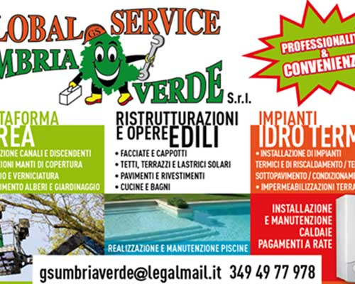un depliant del Global Service Umbria Verde