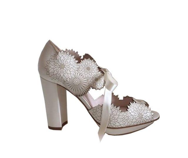 flower studded heels