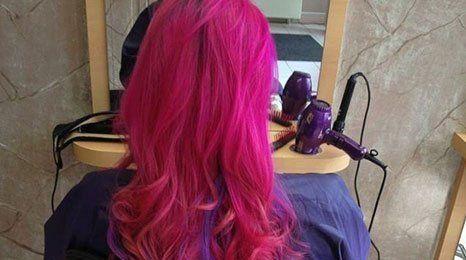 red colour hair
