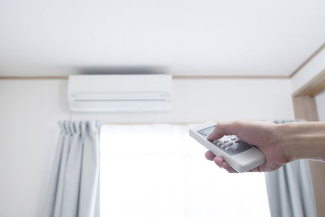 turning on split air conditioning unit