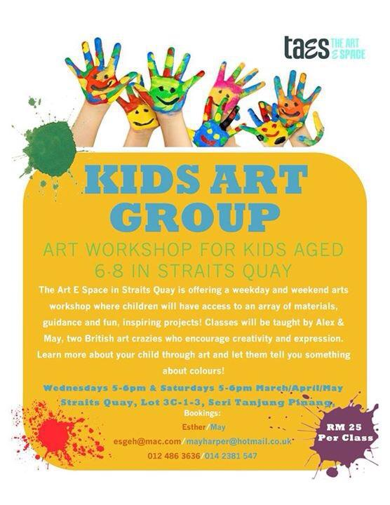 The Art Espace Kids Art workshop group in Penang