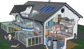 Modello 3D di un'abitazione con impianti vari
