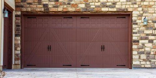 Newly constructed garage door