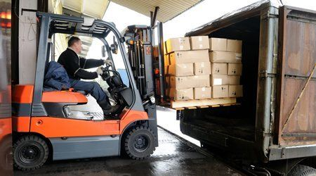 using a forklift