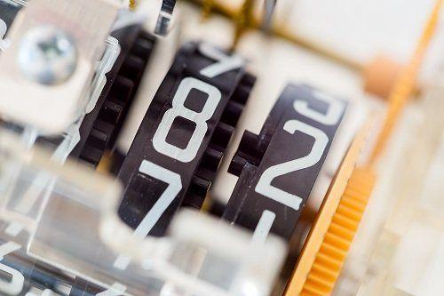 Primo piano di un contatore per il consumo elettrico