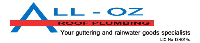 all oz roof plumbing business logo