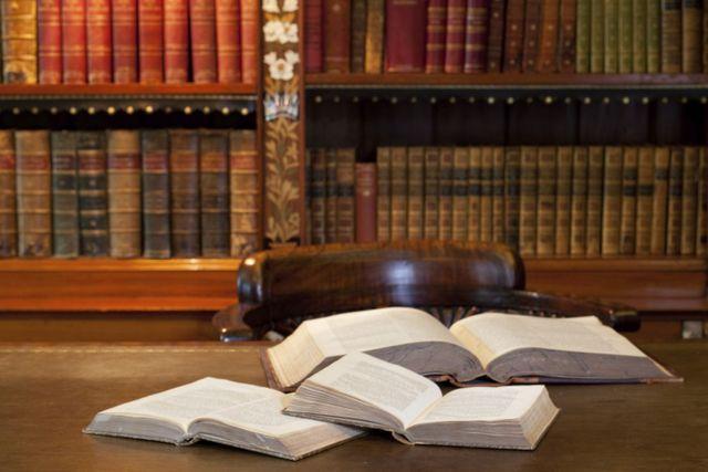 Book in a law office in Pell City, AL