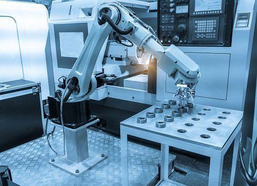 braccio di un macchinario in azione